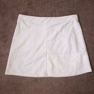 Cream LuLu's Mini Skirt
